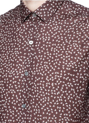 Detail View - Click To Enlarge - Lanvin - 'Evolutive' triangle print cotton poplin shirt