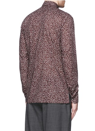 Back View - Click To Enlarge - Lanvin - 'Evolutive' triangle print cotton poplin shirt