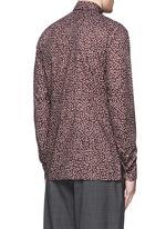 'Evolutive' triangle print cotton poplin shirt
