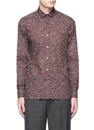 Main View - Click To Enlarge - Lanvin - 'Evolutive' triangle print cotton poplin shirt