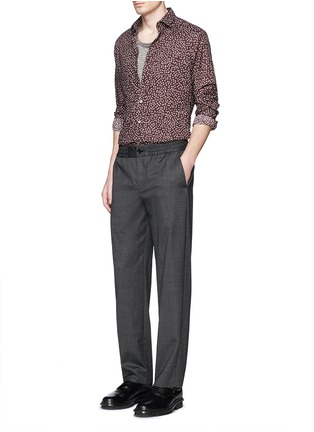 Figure View - Click To Enlarge - Lanvin - 'Evolutive' triangle print cotton poplin shirt