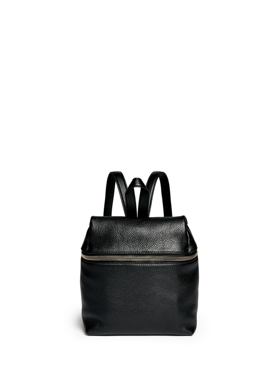 Small pebbled leather backpack by Kara