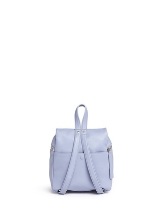 Back View - Click To Enlarge - Kara - Small pebbled leather backpack