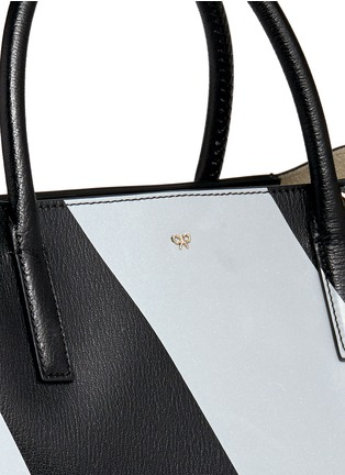 Detail View - Click To Enlarge - Anya Hindmarch - 'Ebury Maxi Featherweight Chevrons' leather tote