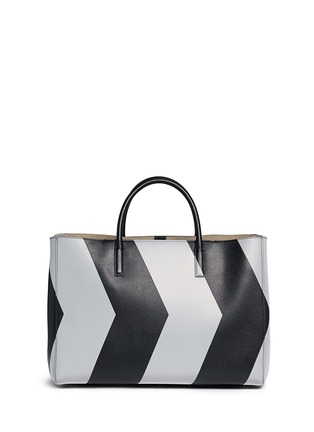 Back View - Click To Enlarge - Anya Hindmarch - 'Ebury Maxi Featherweight Chevrons' leather tote