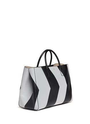 Front View - Click To Enlarge - Anya Hindmarch - 'Ebury Maxi Featherweight Chevrons' leather tote