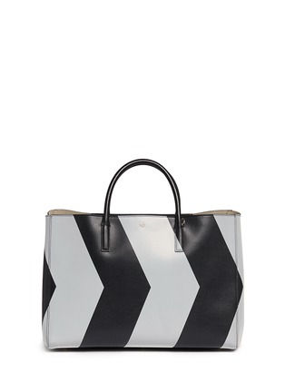 Main View - Click To Enlarge - Anya Hindmarch - 'Ebury Maxi Featherweight Chevrons' leather tote