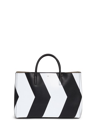 Figure View - Click To Enlarge - Anya Hindmarch - 'Ebury Maxi Featherweight Chevrons' leather tote