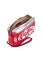 'Kit Kat' mirror leather wristlet