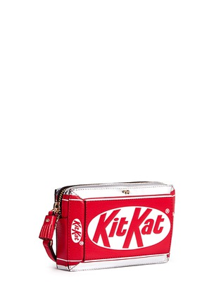 Front View - Click To Enlarge - Anya Hindmarch - 'Kit Kat' mirror leather wristlet