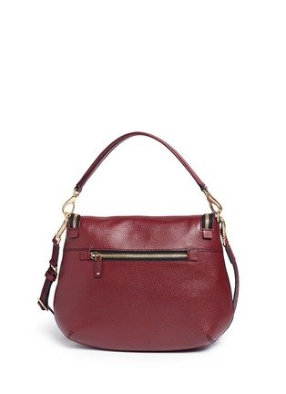 Back View - Click To Enlarge - Anya Hindmarch - 'No Mobiles Maxi Zip' leather crossbody bag