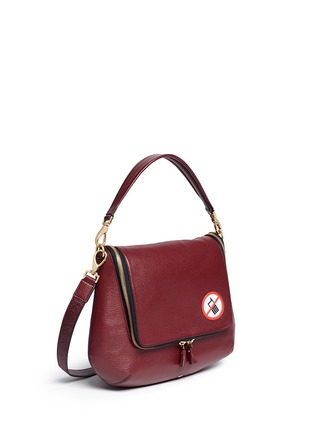 Front View - Click To Enlarge - Anya Hindmarch - 'No Mobiles Maxi Zip' leather crossbody bag