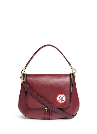Main View - Click To Enlarge - Anya Hindmarch - 'No Mobiles Maxi Zip' leather crossbody bag