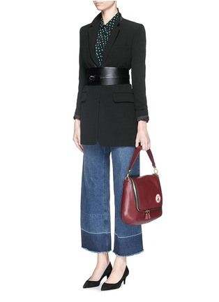 Figure View - Click To Enlarge - Anya Hindmarch - 'No Mobiles Maxi Zip' leather crossbody bag