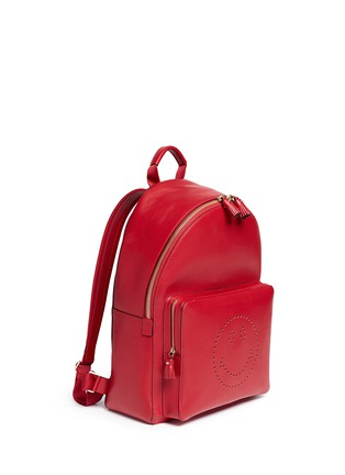 Front View - Click To Enlarge - Anya Hindmarch - 'Smiley' leather backpack
