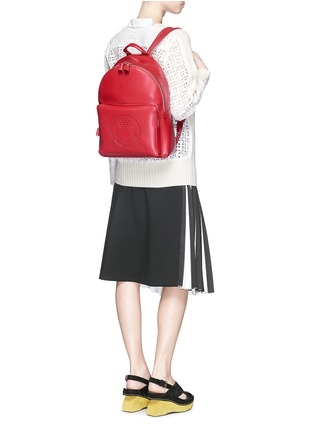 Figure View - Click To Enlarge - Anya Hindmarch - 'Smiley' leather backpack