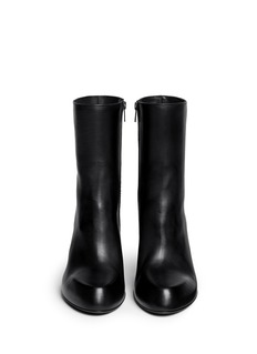 ANN DEMEULEMEESTER 'Glove' zip-up leather boots