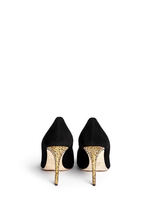 Back View - Click To Enlarge - Giuseppe Zanotti Design - 'Yvette' crystal pavé heel suede pumps
