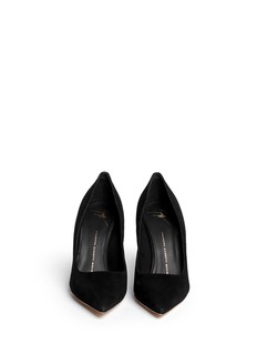 GIUSEPPE ZANOTTI DESIGN'Yvette' crystal pavé heel suede pumps