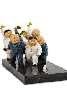 X+Q Knife Gang sculpture