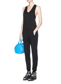 T BY ALEXANDER WANG Racerback French terry jumpsuit