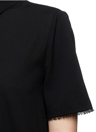 Detail View - Click To Enlarge - T By Alexander Wang - Silk collared shirt dress