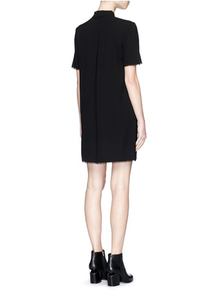 Back View - Click To Enlarge - T By Alexander Wang - Silk collared shirt dress