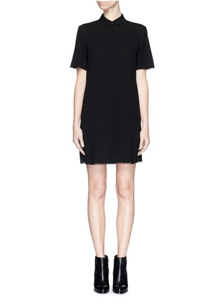 Main View - Click To Enlarge - T By Alexander Wang - Silk collared shirt dress