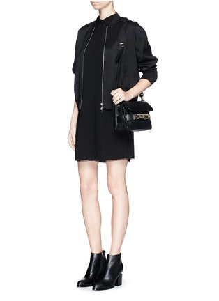 Figure View - Click To Enlarge - T By Alexander Wang - Silk collared shirt dress