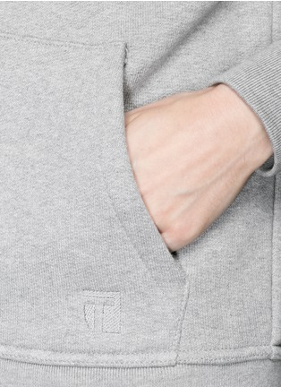 Detail View - Click To Enlarge - T By Alexander Wang - Heavy French terry logo zip hoodie
