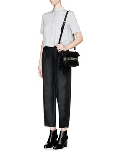T BY ALEXANDER WANGCropped silk collared shirt