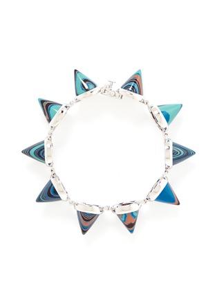 Main View - Click To Enlarge - Eddie Borgo - Marbled gemstone cone bracelet