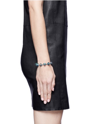 Figure View - Click To Enlarge - Eddie Borgo - Marbled gemstone cone bracelet