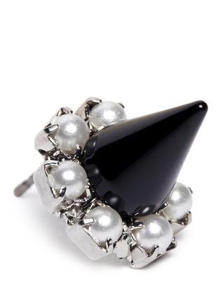 Detail View - Click To Enlarge - Joomi Lim - Spike pearl earrings