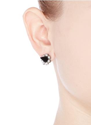 Figure View - Click To Enlarge - Joomi Lim - Spike pearl earrings