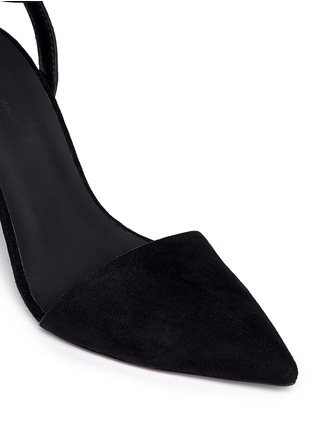 Detail View - Click To Enlarge - Alexander Wang  - 'Lovisa' lambskin suede ankle strap pumps