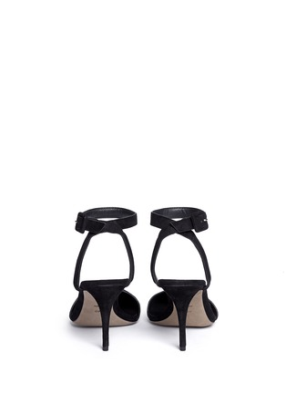 Back View - Click To Enlarge - Alexander Wang  - 'Lovisa' lambskin suede ankle strap pumps