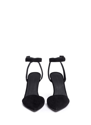 Figure View - Click To Enlarge - Alexander Wang  - 'Lovisa' lambskin suede ankle strap pumps