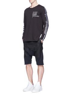 Den Im By Siki ImTaffeta panel drop crotch sweat shorts