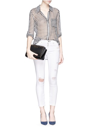 - Michael Kors - 'Selma Stud' medium saffiano leather messenger bag