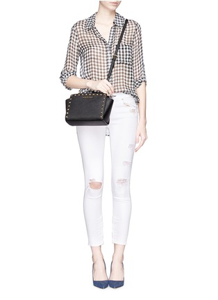 Figure View - Click To Enlarge - Michael Kors - 'Selma Stud' medium saffiano leather messenger bag