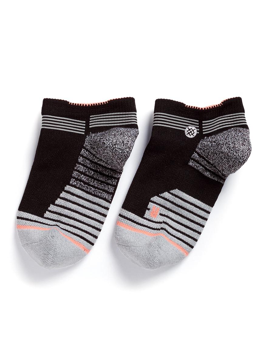 stance female rapido low colourblock stripe performance socks