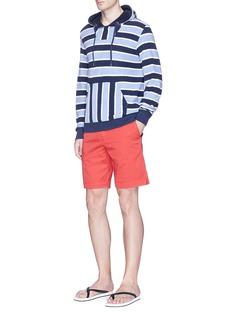 Orlebar Brown'Karson' stripe towelling hoodie