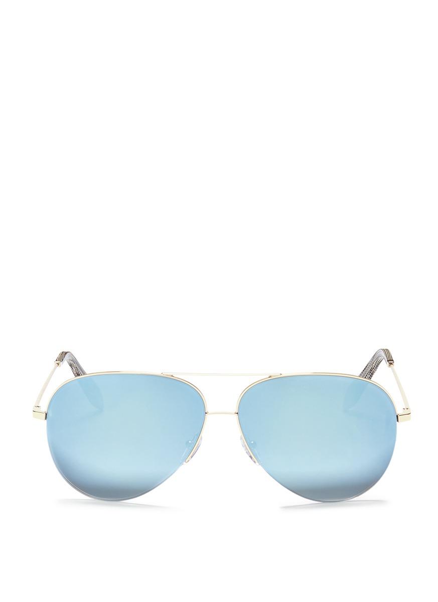 Classic Victoria mirror aviator sunglasses by Victoria Beckham