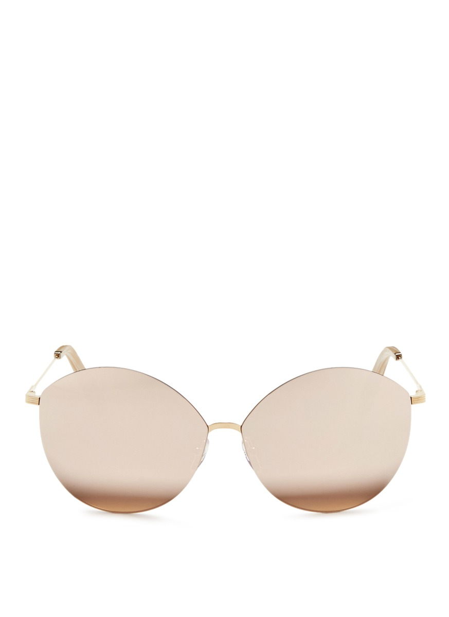 Feather Kitten 18k gold mirror cat eye sunglasses by Victoria Beckham