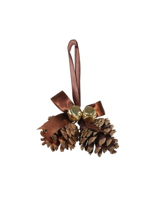 Main View - Click To Enlarge - Shishi As - Bell and pine cone Christmas ornament