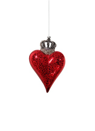 Main View - Click To Enlarge - Shishi As - Crowned heart small Christmas ornament