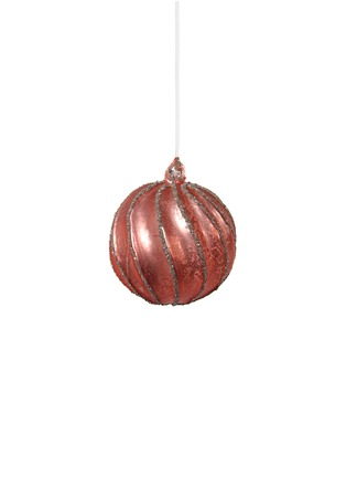 Main View - Click To Enlarge - Shishi As - Glitter twisted Christmas ornament