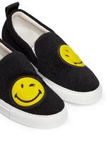 'Smile' patch felt skate slip-ons