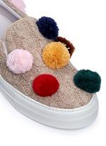 Pompom cable knit skate slip-ons